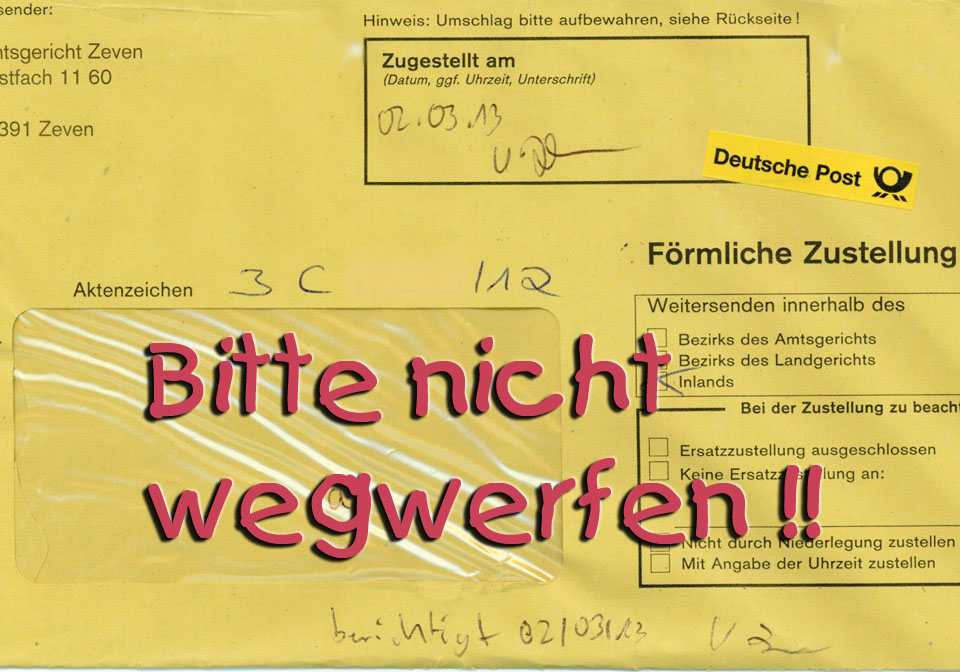 Zustell-Umschlag